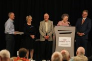 Ann and Tom Bizzell accepting the Lifetime Service Award.