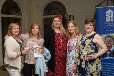 Pamela Keene, Amy Smith, Olga Grab, Monica Schroeder and Karen Miller. Photo by Andrea Hutchinson, courtesy of The Voice-Tribune.
