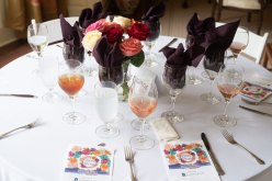 Table setting. Photo by Andrea Hutchinson, courtesy of The Voice-Tribune.