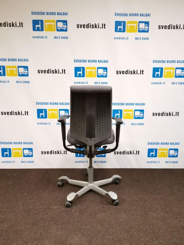 šVEDIŠKI.LT HAG H05 Pilka Biuro Kėdė Su Reguliuojamomis Rankų Atramomis, Švedija