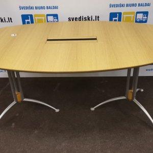 Švediški.lt Ąžuolo Konferencinis Stalas Su Metalinėmis Kojomis, Švedija