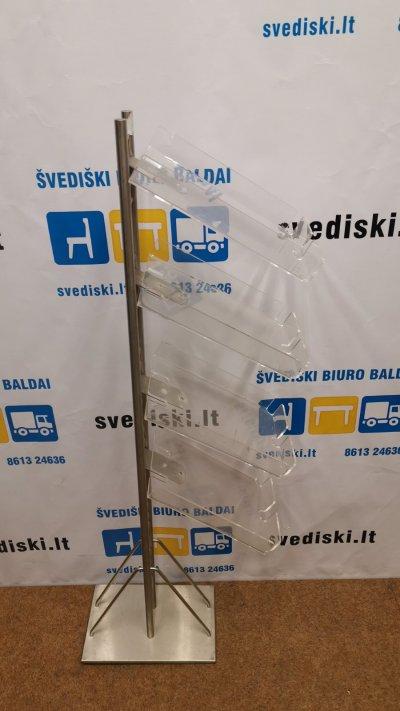 svediski.lt Reklaminių bukletų Stovas Su Akrilo Lentynomis, Švedija