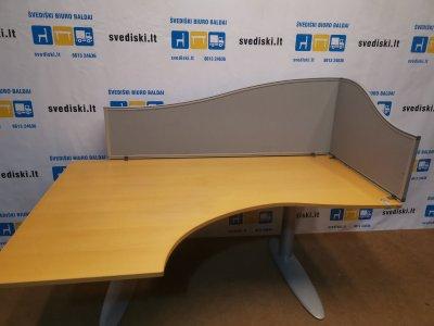 Svediski.lt Dviejų Darbo Vietų Rinkinys Stalai+Kinnarps Plus 6 Biuro Kėdės+Martela Spintos, Švedija