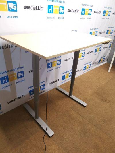 Linak Elektra Reguliuojamas Stalas Su Klevo 120x80 Stalviršiu, Švedija