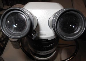 microscope staring at you