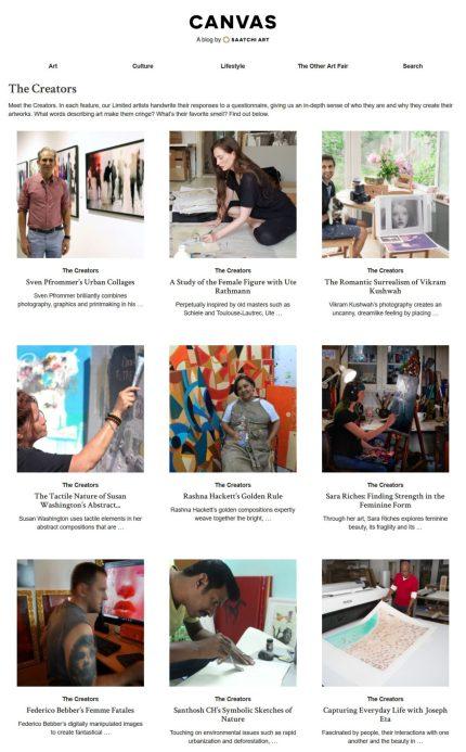 The Creators – Canvas A Blog By Saatchi Art