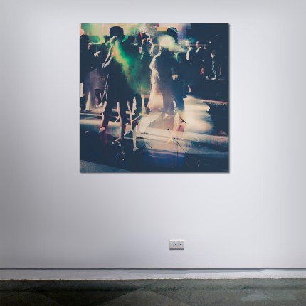 Human Crowds - Mixed Media Works by Sven Pfrommer
