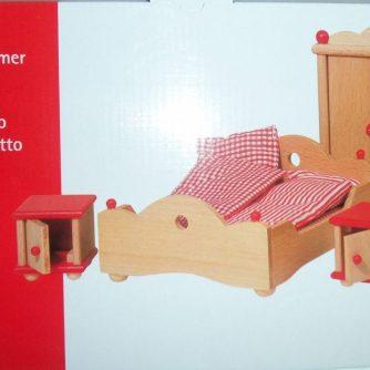 Schlafzimmer -Goki, Puppenhausmöbel, neu