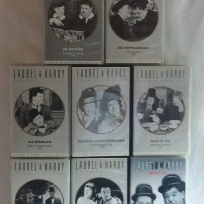 VHS,Laurel & Hardy-Sammlung