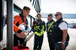 Valentino Rossi, Luca Marini, Alessio Uccio Salluci Ferrari 488 GT3 test Misano 2019