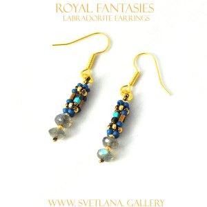 Royal Fantasies Labradorite Earrings at www.svetlana.gallery