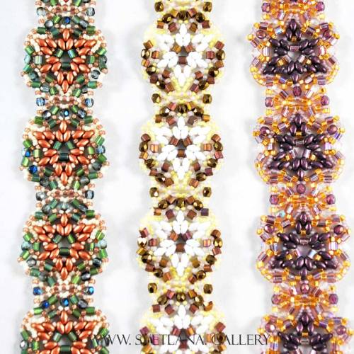 Largo Bracelet Bead Pattern And Tutorial - Colorways