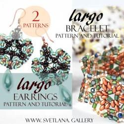 Largo Bead Pattern Combo - Bracelet and Earrings Tutorial Set