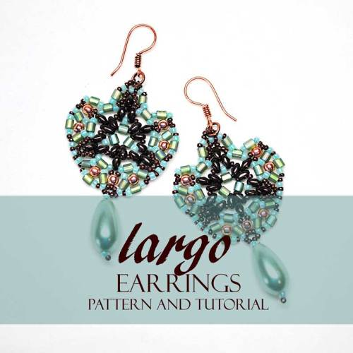 Largo Earrings Bead Pattern And Tutorial - www.Svetlana.gallery
