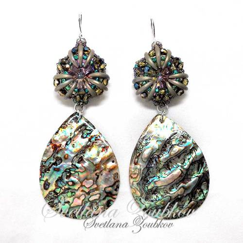 Long Statement Earrings WIth Abalone Shell Elements