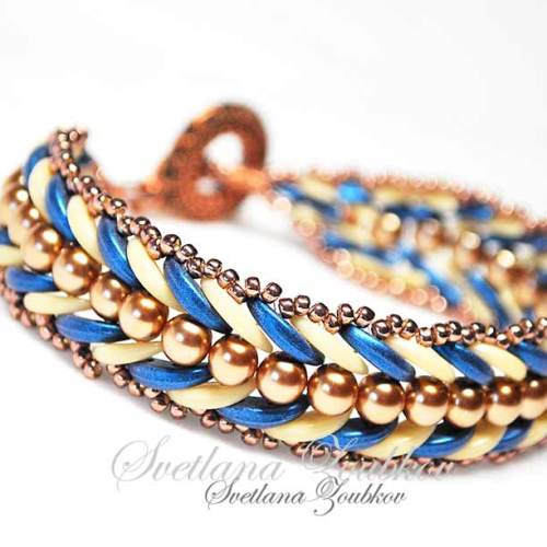 Riletta Bracelet Blue Copper Variation