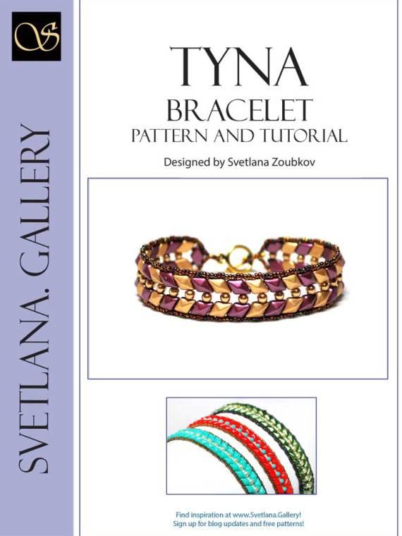 Tyna Bracelet Pattern Tutorial Cover Page