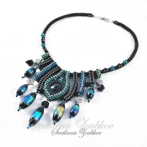 """Necklace """"Jolene"""" - beadwork design by Svetlana"""