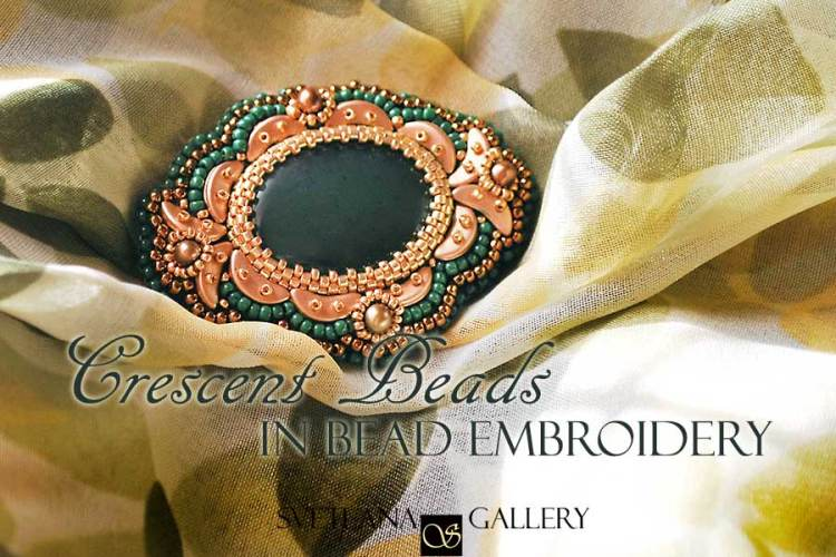 Crescent Beads In Bead Embroidery