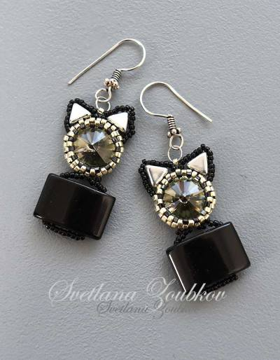 Cat-In-A-Box Earrings - Svetlana.Gallery
