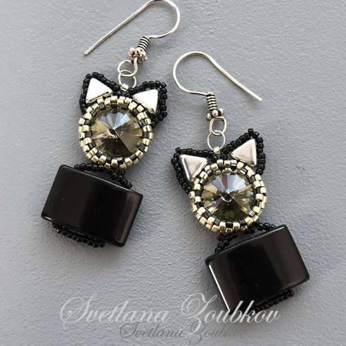 Cat-In-A-Box Earrings - Svetlana.Gallery