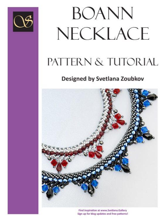 Boann Necklace Pattern Tutorial - Cover - Svetlana.Gallery