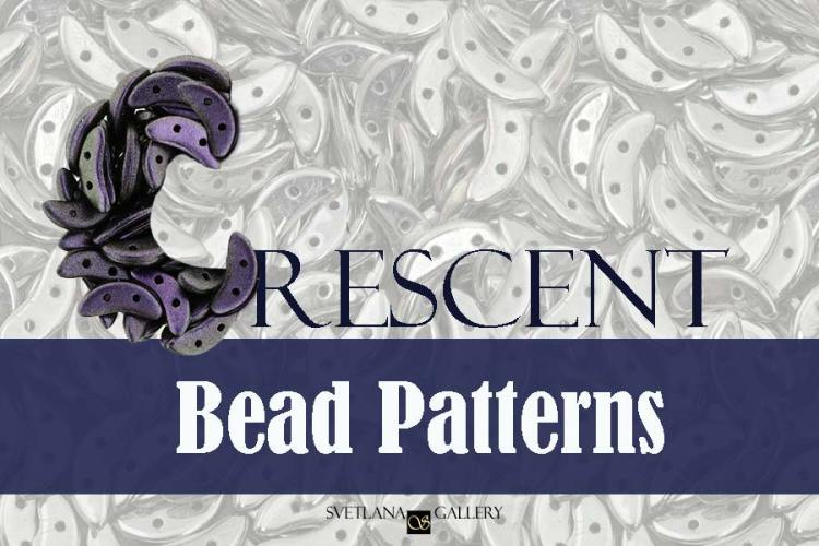 Crescent Bead Patterns - Svetlana.Gallery blog about beading