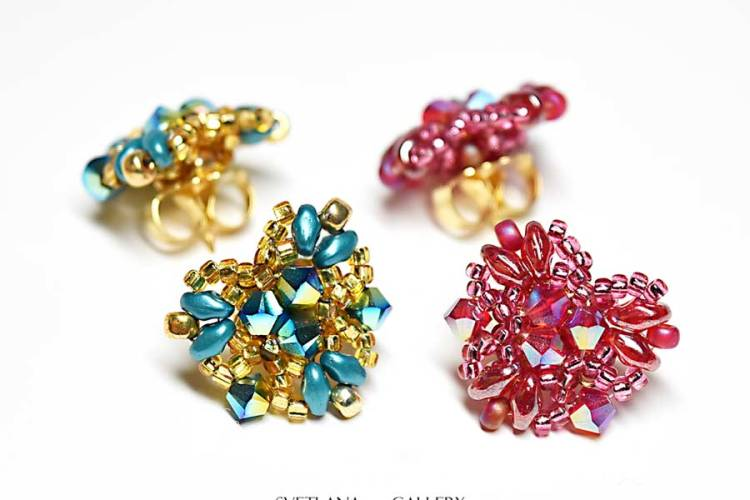Super Quick Heart Shape Beaded Earring Project