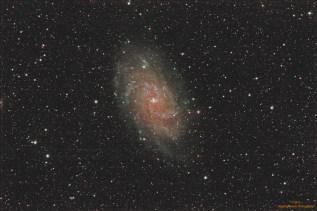 Triangulum galaksija, M33, u sazveždju Trougao