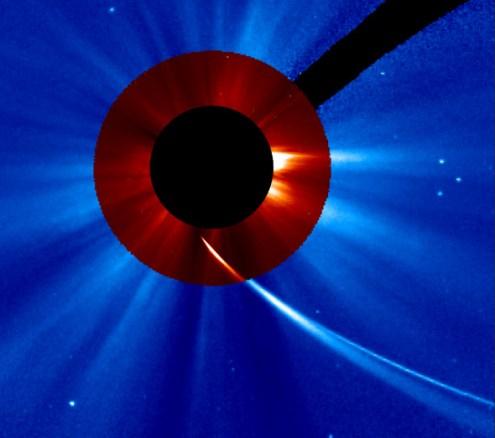 Kometa ISON u 18:24h (Credit: SOHO, NASA)