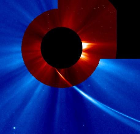 Kometa ISON u 18:48h (Credit: SOHO, NASA)