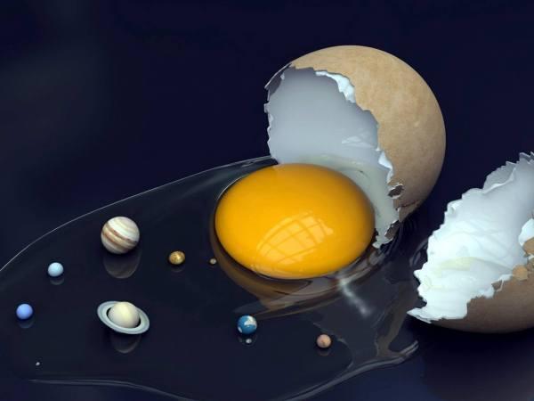 Slika dana: Jaje ili Suncev sistem [11.12.2013]