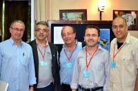 Sa leva na desno: Luis Alvarez-Gaume (CERN, Švajcarska), Goran Djordjevic (Niš, Srbija), Guido Martinelli (SISSA, Italija), Paolo Creminelli (ICTP, Italija) i Raul Jimenez (Barselona, Španija) na BW2013