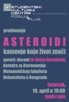 """Predavanje: """"Asteroidi - kamenje koje život znači"""" 1"""