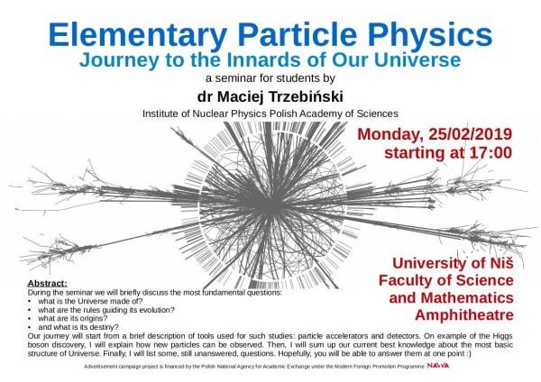 Predavanje o fizici elementarnih čestica u Nišu 1