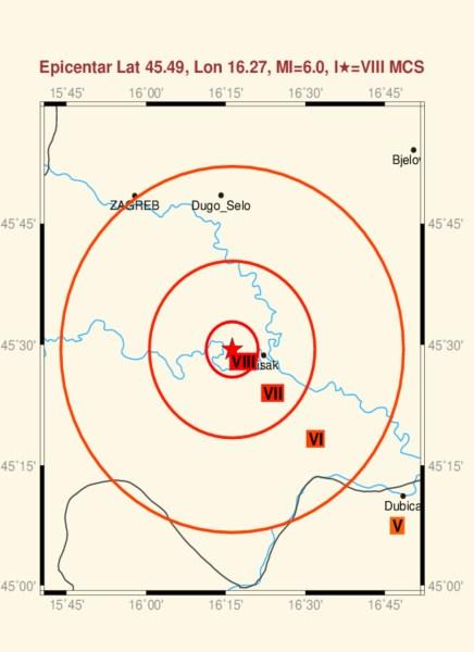 Zemljotres u Hrvatskoj 2