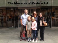 With family-friend Jane Shea at the MoMA Picasso sculpture show