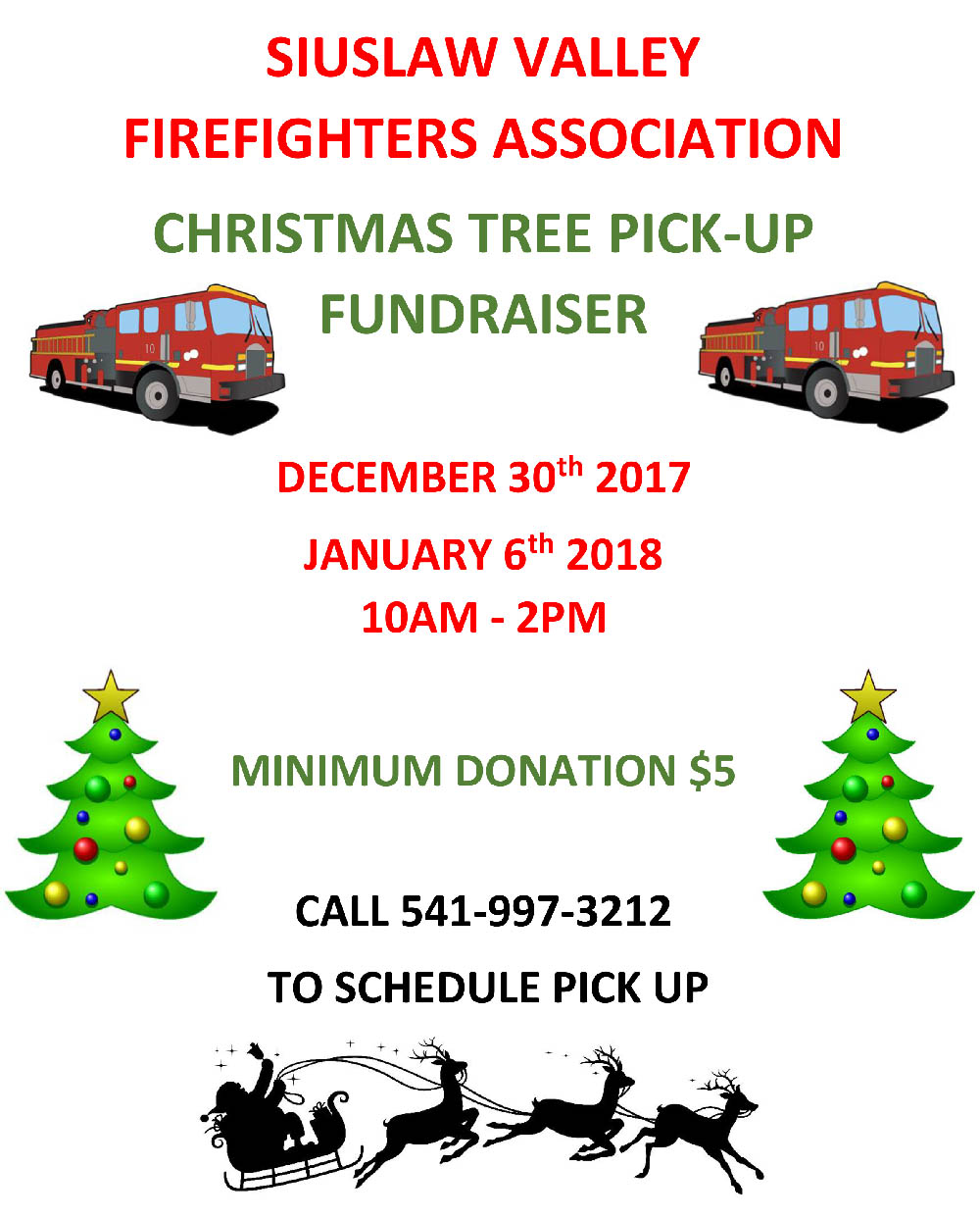 Svfr Christmas Tree Pick Up Siuslaw Valley Fire Rescue