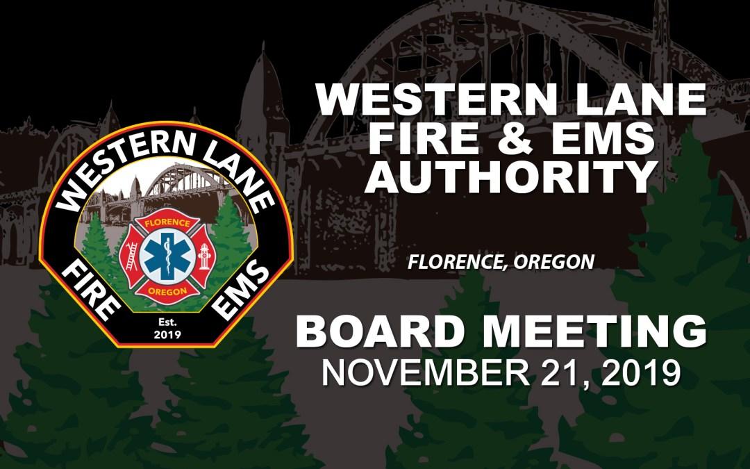 WLFEA Board Meeting – November 21, 2019