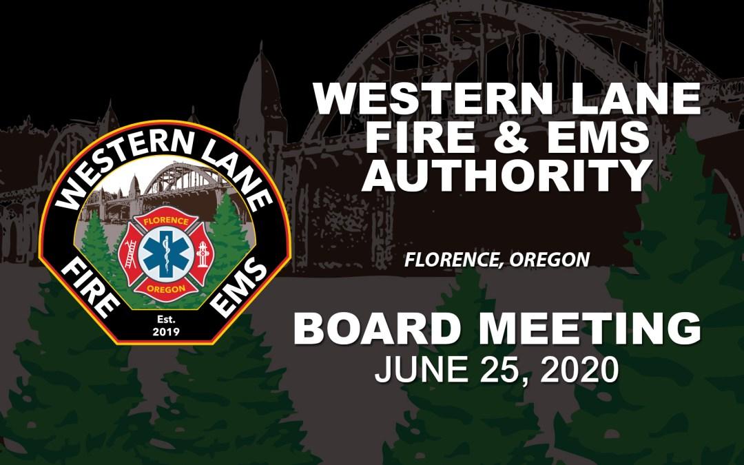 WLFEA Board Meeting – June 25, 2020