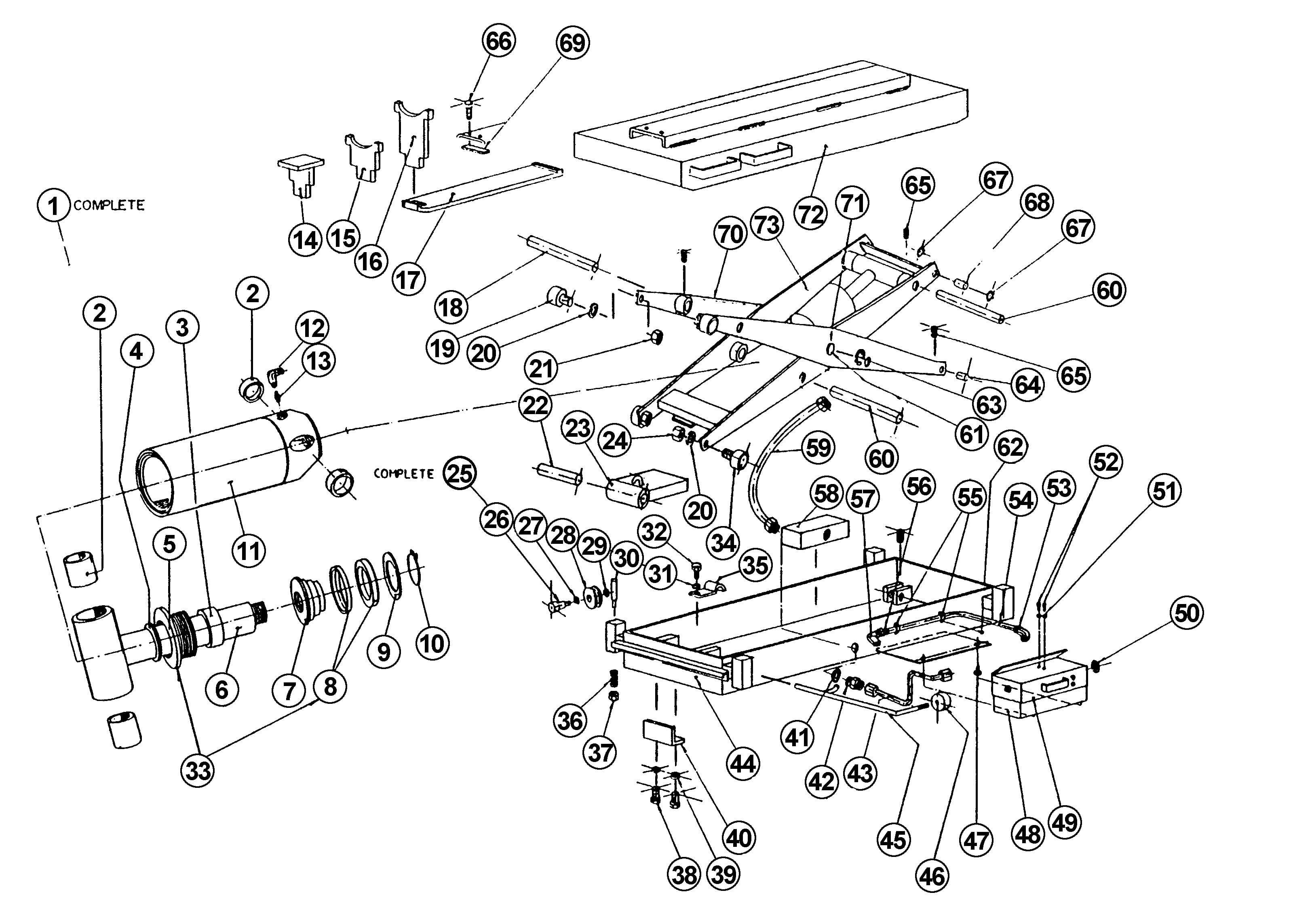 Parts For Wheeltronic Lb Jack Beam