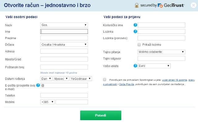 200e BESPLATNOG BONUSA - Sportingbet _ registracija