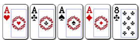 4 poker cetiri karte iste jacine i kicker