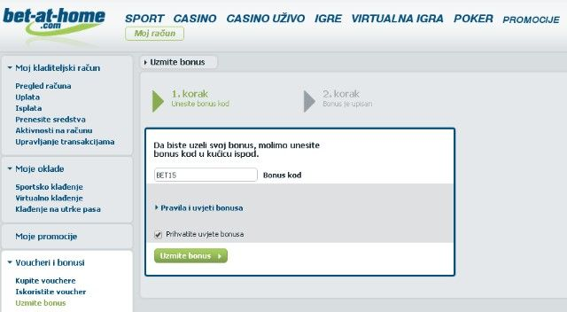 Bet at home kladionica uzmite bonus