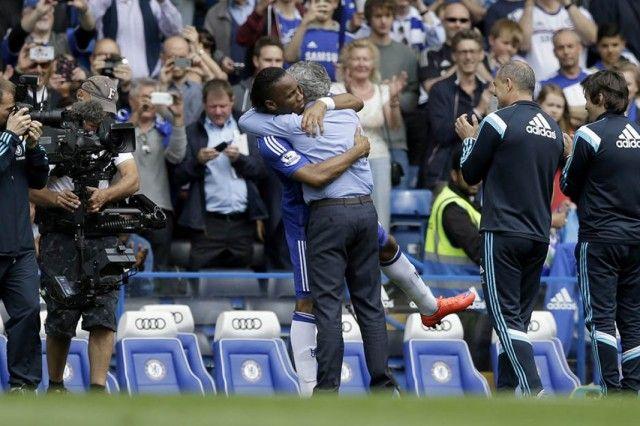Didier Drogba i Jose Mourinho