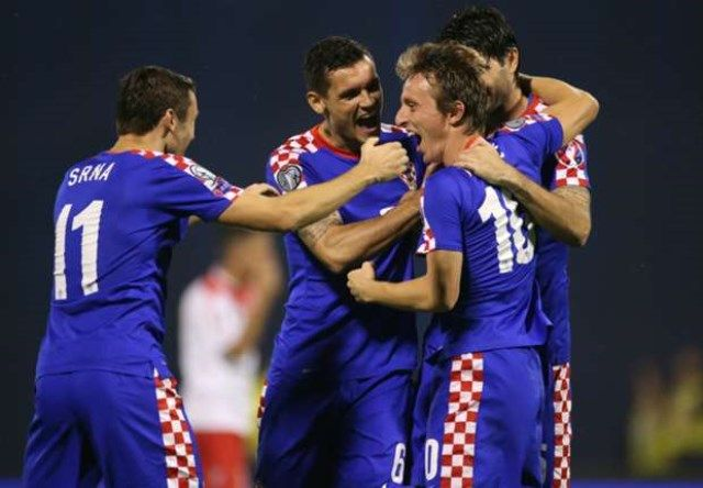 Malta - Hrvatska, gol Modrića