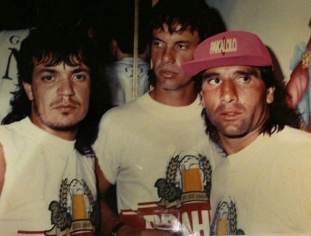 Kaiser (lijevo) sa tadašnjim brazilskim zvijezdama Renatom i Renatom Gauchom