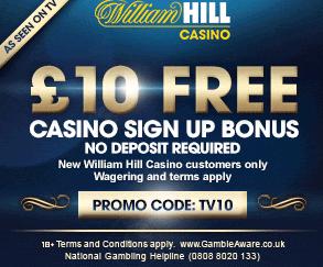 William Hill Casino 10€ FREE