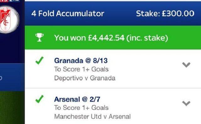 Navijač Manchester Uniteda na kladionici dobio 5.637