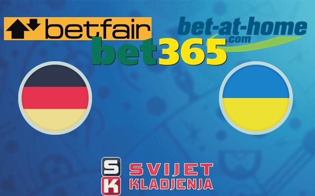 Njemačka v Ukrajina: Kladite se na najveće koeficijente